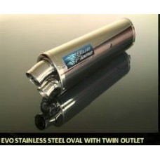 Rev Tec Evo Stainless Steel Oval with twin outlet for CB400